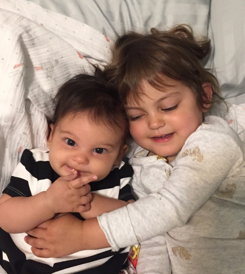 Sisters baby toddler