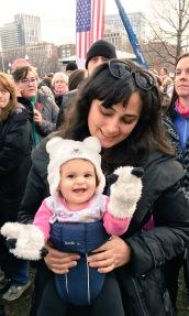 mom women's march boston